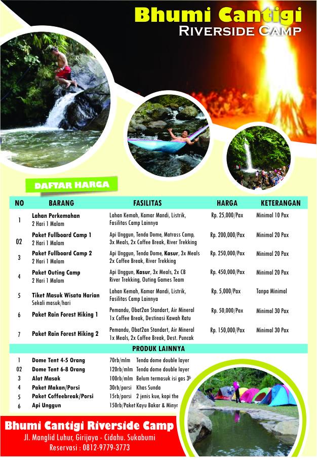 daftar harga paket camping di cidahu