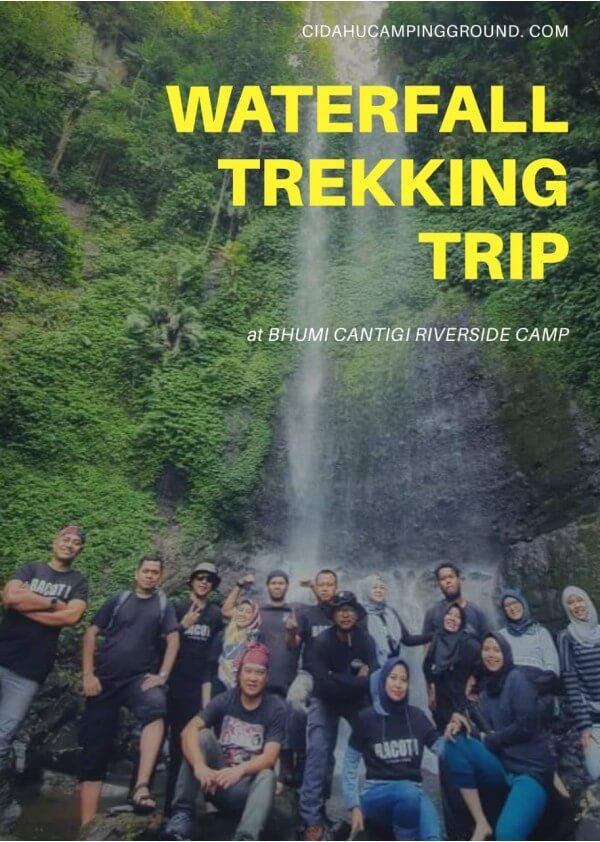 waterfall trekking di Bhumi Cantigi