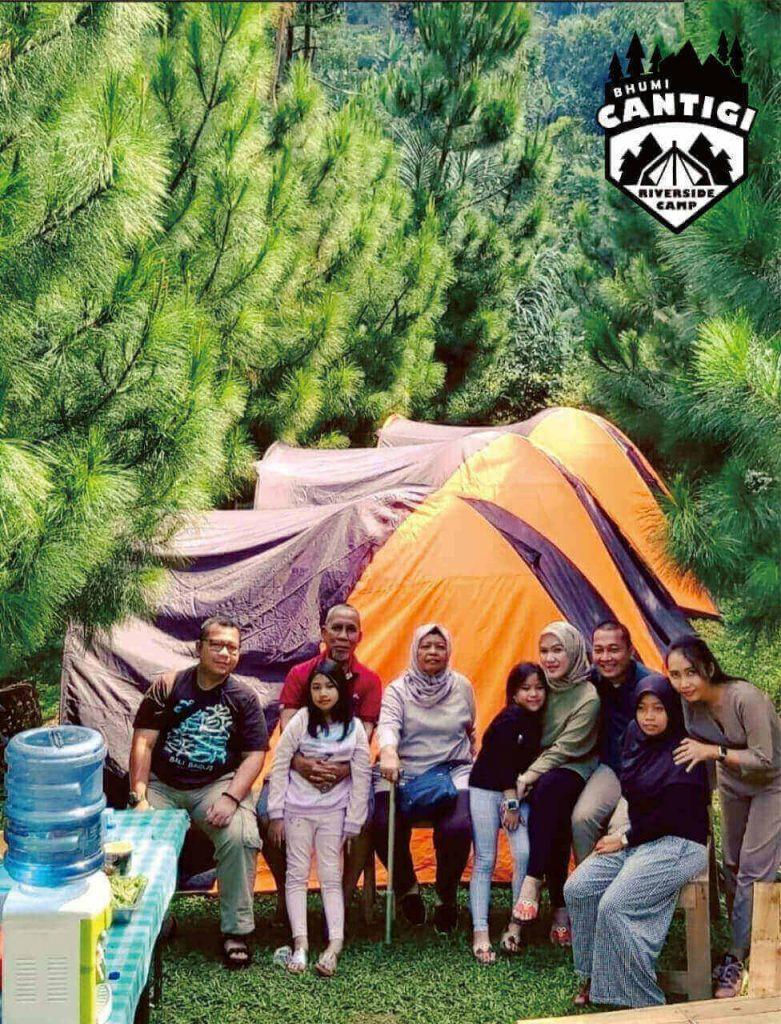 Camping di bhumi cantigi, camping di cidahu, perkemahan keluarga